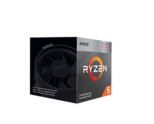 AMD Ryzen 5 3400G - Procesador con disipador de Calor Wraith Spire (4 MB, 4 núcleos, Velocidad de 4.2 GHz, 65 W)