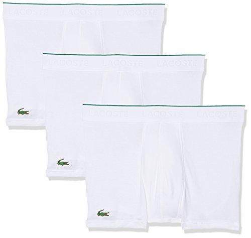 Lacoste Herren Boxershorts Multipack Trunk (3pk), 3er Pack Weiß (Weiss 100)