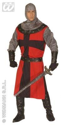 Widmann WDM44483 - Costume Per Adulti Cavaliere dell'Epoca Oscura, Rosso,