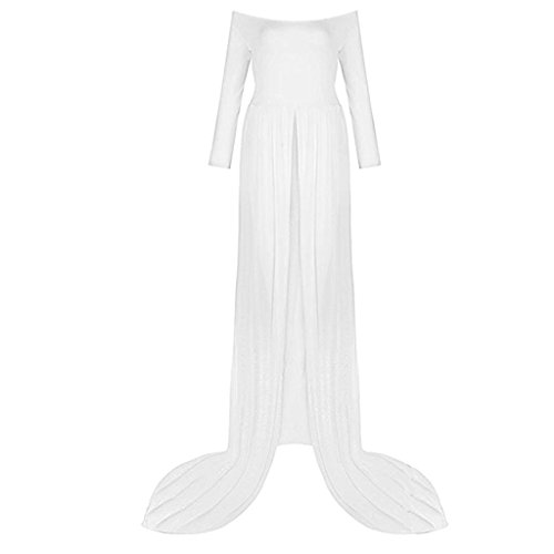 MagiDeal Elegant schwangere Frauen Fotografie Maternity Foto Shoot Kleid, Maternity Röcke - Weiß 2, wie beschrieben