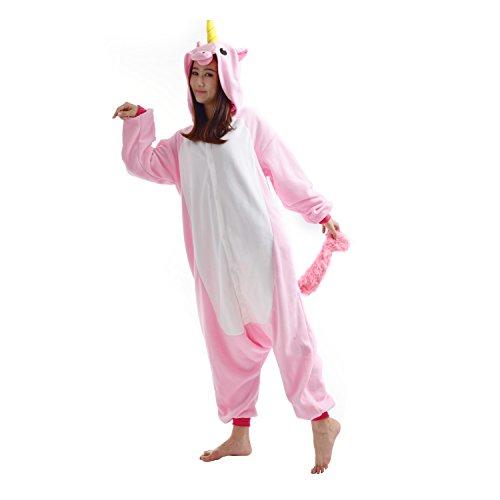 Imagen de darkcom  disfraz de animal unisex para adulto sirve como pijama o cosplay sleepsuit de una pieza unicornio