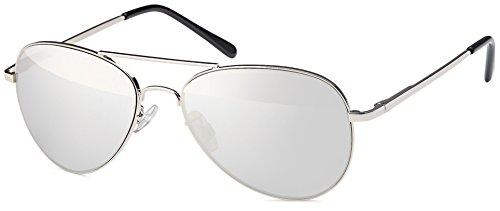 Feinzwirn Pilotenbrille Sonnenbrille verspiegelt für schmale Kopfformen inkl Brillenbeutel