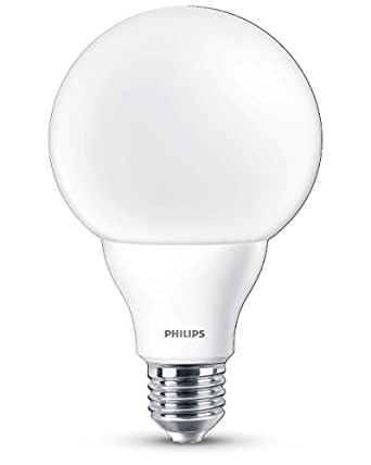Philips ampoule led globe d polie culot e27 95 watts for Nouvelles ampoules equivalence watts