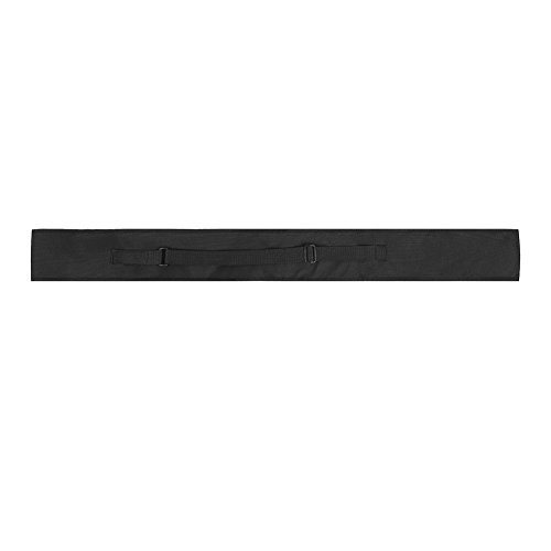 Alomejor Billard Queuetasche Nylon Portable Pool Queuekoffer Snooker Sticks Tragetasche Leichte Tragbare Weiche Billard Tasche für 1/2 3/4 Snooker Billard Stick Rod(1/2)
