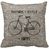 you-plus-bicycle-equals-happy-antique-bricks-gray-pillow-case-18-18