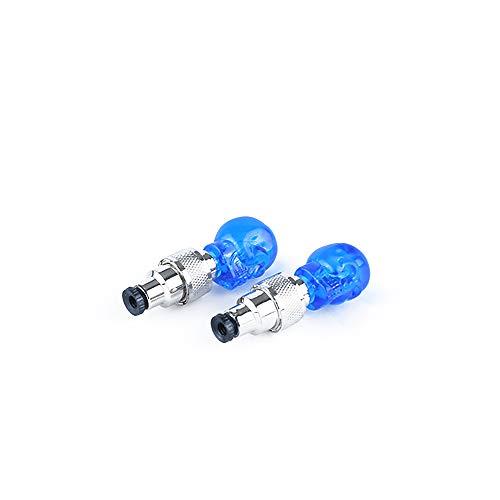 2Pcs heiß Fahrrad - Accessoires led - Lampe schädel Form Reifen - ventil - licht Auto - Bike Motorrad(Blue)