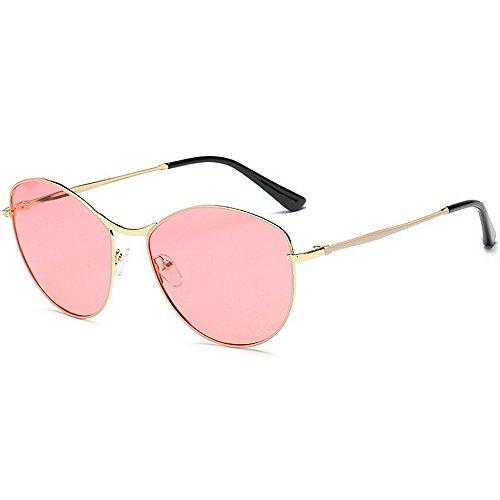 Yiph-Sunglass Sonnenbrillen Mode Polarisierende Sonnenbrille der kleinen ovalen Form Frauen Vollbild-UV-Schutz, der Reisende Sonnenbrille für alle Gesicht fährt (Farbe : Rosa)