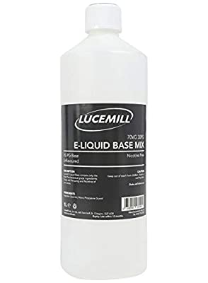 1 Litre (70% VG / 30% PG) Glycerine Glycol E-Liquid 70/30 Base Mix EP/USP PHARMA Grade from Lucemill