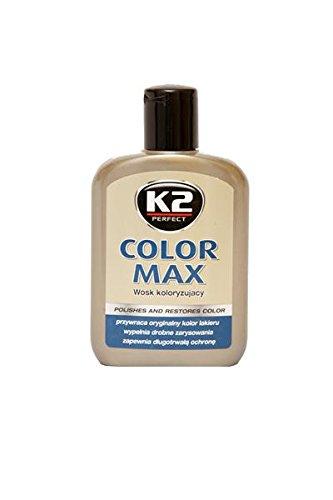 K2 Farbwachs weiß, Wachspolitur mit Carnauba zum Ausbessern, Lackpolitur 200ml