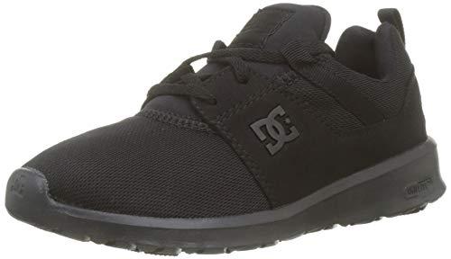 DC Shoes Heathrow, Herren Low-Top Sneakers, Schwarz (Black/Black/Black), 45 EU Herren Low-top Sneaker