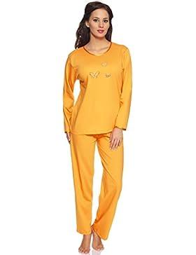 Merry Style Damen Schlafanzug Malwa