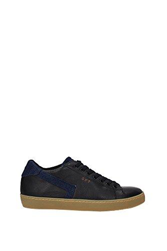 Leather Crown Sneakers Uomo - (MLC09NERODENIM) 40 EU