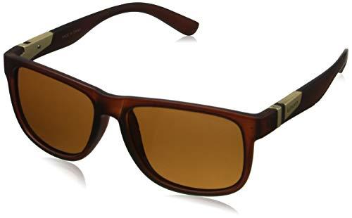 kimorn Polarisierte Sonnenbrille Herren Quadratische Form Retro Unisex Brille K0585 (Mattes Braun) (Braune Wayfarer Sonnenbrille)