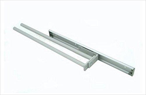 Porte-serviettes avec 2 bras extensibles parallèles en aluminium de bonne qualité.