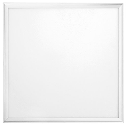 sevenon LED 64169 Panneau LED SMD Ultraslim carré intégré, 36 W, Blanc mat, 59,5 x 2 cm (côté x haut)