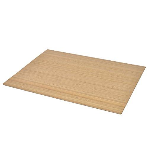 vidaXL Bodenschutzmatte Bürostuhlunterlagen Stuhlmatte Bambus Natur 110x130 cm