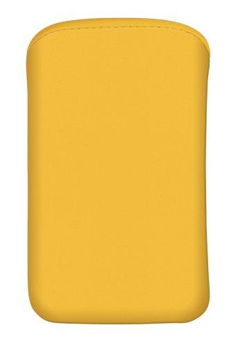 Cellux Mikrofaser Tasche Größe L (Galaxy SII, S4 mini. Nokia 800, Huawei Ascend Y300 und weitere Geräte) gelb