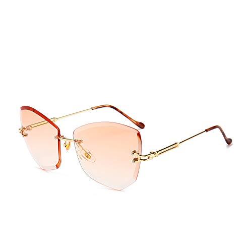 Yangjing-hl Polygonal Big Box Sonnenbrille Fashion Tide Gradient Outdoor Sonnenbrille, gelb, Einheitsgröße