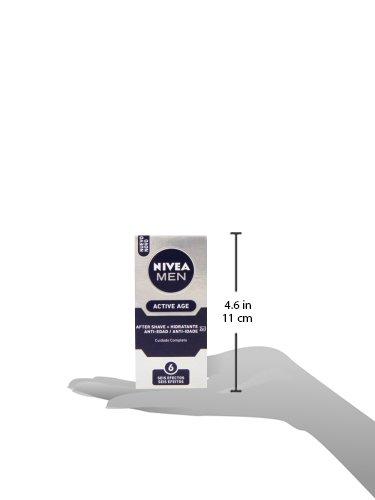 NIVEA MEN Active Age Bálsamo Anti-edad 2en1, bálsamo after shave para calmar la irritación tras el afeitado, hidratante facial antiedad para piel madura – 1 x 75 ml