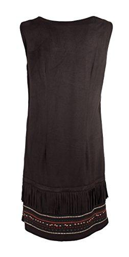 Coline - Robe tendance amérindienne sans manche Noir
