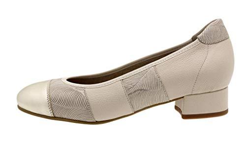 Zapato Cómodo Mujer Bailarina Metal Platino 190534