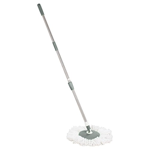 Primeway Spin Mop Handle Set with Disc and Mop Head, Grey  available at amazon for Rs.399