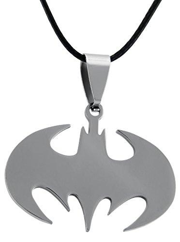 veuer piel sintética Collar de cadena joyas para hombre Batman Cadena de acero inoxidable regalo de Navidad para hombres, amigo, EHE de muñeco