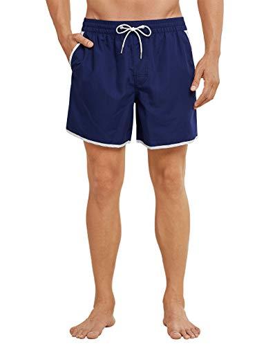 Schiesser Herren Swimshorts Shorts, Blau (Admiral 801), Large (Herstellergröße: 006)