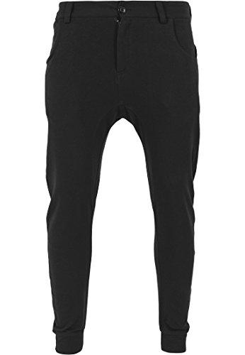 Urban Classics - Hose Curved Sweatpants, Pantaloni sportivi Uomo, Nero (Schwarz), Small (Taglia Produttore: Small)