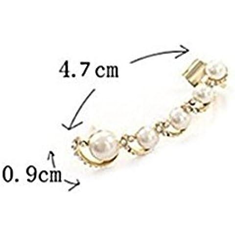 CAIerd perla de la moda con los pendientes de la perforaci¨®n de perno sencillo (1 unidad)