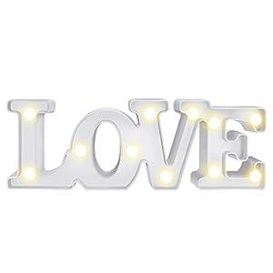 LOVE Led Nachtlicht MOOKLIN süße Nachttischlampe Batteriebetriebene Wanddeko Weihnachtsdeko Tischdeko Schlafzimmer Home Dekorationen Weihnachts Geschenke - LOVE