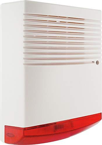 SCHWAIGER -5583- Sirenen-Dummy/Sirenen-Attrappe/Alarmanlage-Sirene-Dummy/Attrappe/fürs Haus/Einbruchschutz/Sicherheit/im klassischen Design