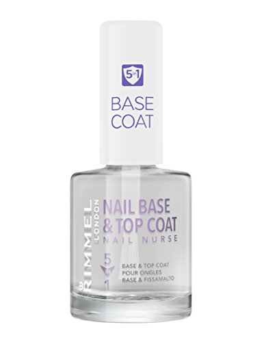 Rimmel London Nail Nurse 5-in-1 Nail Base & Top Coat, Transparent, 12 ml