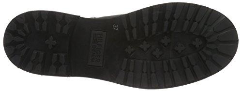 Hilfiger Denim Damen B1385edford 7a Chelsea Boots Schwarz (black 990)
