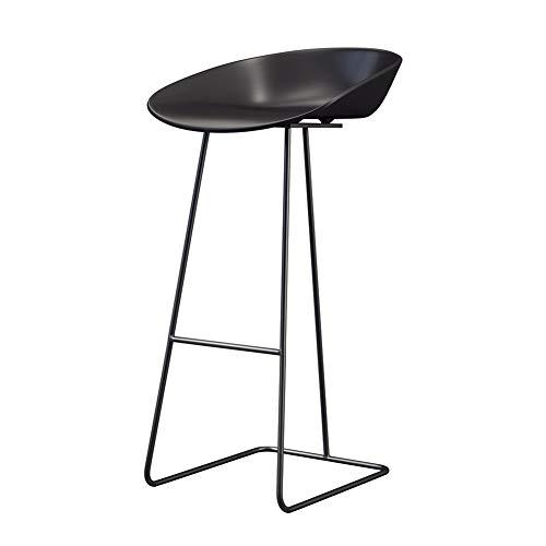 Elegante sgabello da bar, sgabello per schienale, design ergonomico, cucina | colazione | bancone | accademia musicale | caffetteria | bar, 3 misure disponibili (nero)