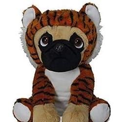 LB Super Dulce Carlino Sentado con Traje Tiger, Aprox. 23cm, Peluche, Peluche