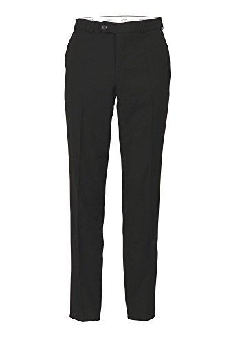 Michaelax-Fashion-Trade Club of Comfort - Herren Flat Front Hose mit Schurwolle in sechs Farben, Santos (4118), Farbe:Schwarz (10), Größe:48 (Bein, Flat Front Hose)