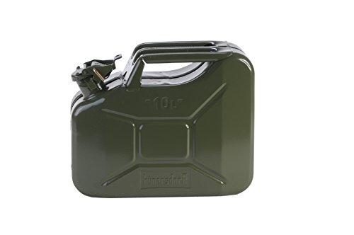 Preisvergleich Produktbild H&G Metall-Kraftstoff-Kanister CLASSIC 10l, mit UN-Zulassung für Benzin, Diesel und andere Gefahrgüter, oliv