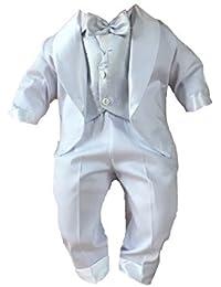 Taufanzug Smoking Festanzug mit Frack Outfit Hochzeit Weiß