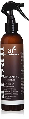 ArtNaturals Protecteur Thermique pour Cheveux, 226 ml - Spray Protecteur Idéal contre la Chaleur Excessive des Lisseurs - Contient 100 % d'Huile d'Argan Biologique et Prévient les Dommages, Cassages et Pointes Cassantes - Made in USA - Sans Sulfates.