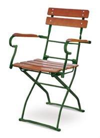 Biergartensessel EuroLiving Edition-Classic ocker/grün