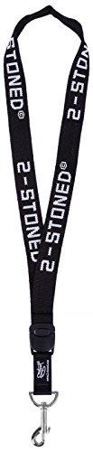 original-2stoned-schlsselband-classic-logo-in-schwarz-25cm-breit