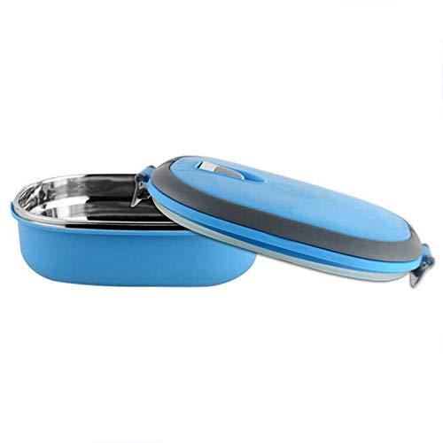 Mehrschichtige, tragbare Edelstahl-Isolierung, Thermo-Lunchbox, Bento-Box, für Studenten, Kinder, Outdoor, Camp-Blue - Lunch Thermos Box
