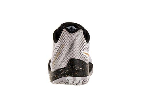 Nike Hyperlive, Chaussures de Sport-Basketball Homme Blanc (blanc / doré métallique - noir - platine pur)