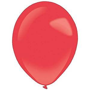 amscan 9905303 - Globos de látex (100 Unidades), Color Rojo