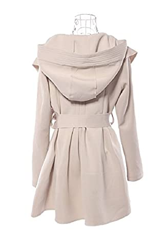 SaySure - New Arrival Autumn Winter Fashion Korean Women's Coat Hooded Trench Hood Outerwear Dresses Style With Belt (SIZE : M) - DE-BG-SPT-000629