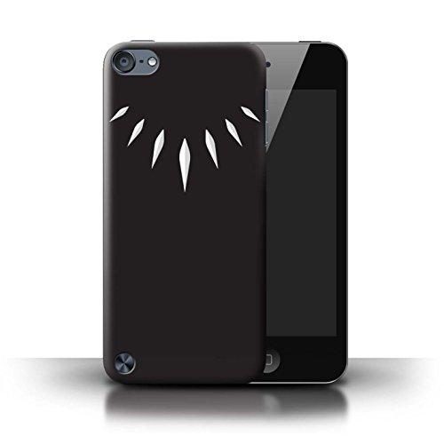 Stuff4® Hülle/Case für Apple iPod Touch 5 / T'Challa Klauenhalskette Muster/Schwarzer Panther Inspiriert Kollektion -