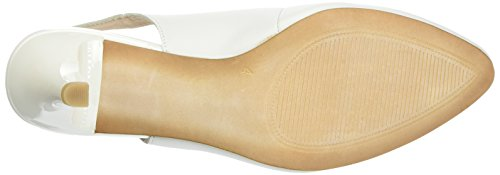 Caprice 29606, Sandales Bout Ouvert Femme Blanc (White Nappa)
