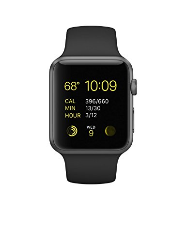 Apple 42 mm Sport Watch with Aluminium Case and Black Sport Band - Space Gray