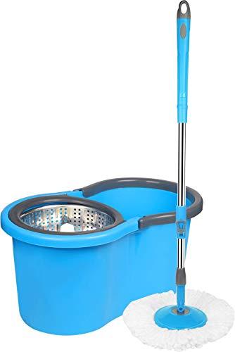 Cenocco CC-9057; Besen Rotierender Mop Rotierender Spin 360spin ° Blau Wischmop rotierend rund Bodenwischer